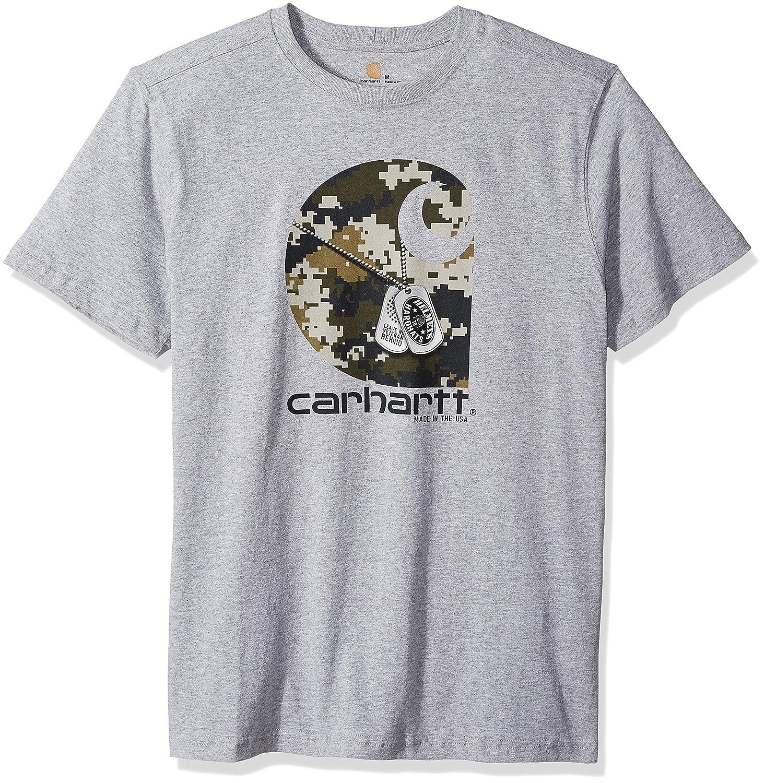 Carhartt SHIRT メンズ B06WP724RL Large ヘザーグレー ヘザーグレー Large