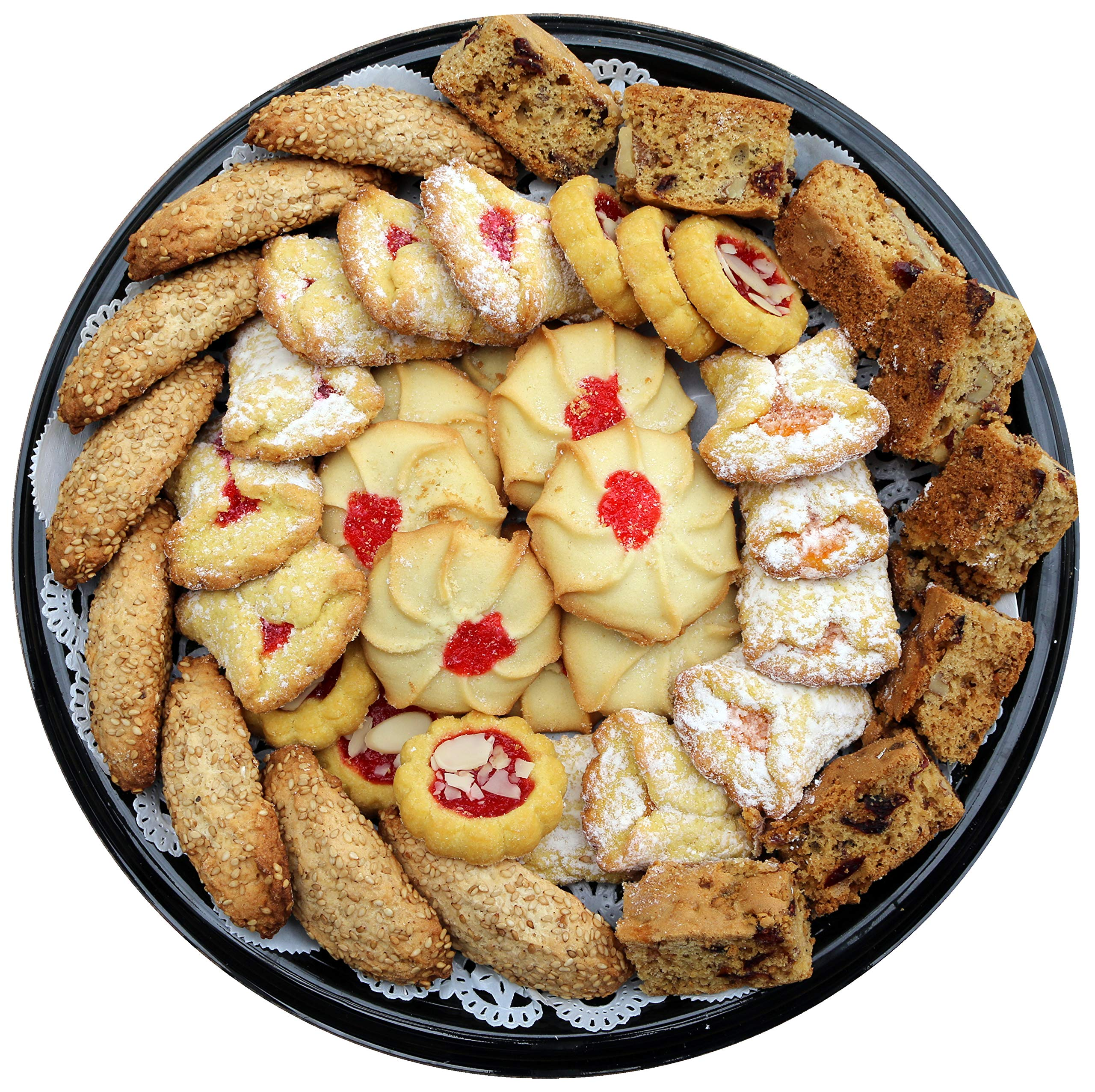 40 Count Fancy Bakery Cookies Gift Tray - Perfect for Birthdays, Parties, & Sympathy Events