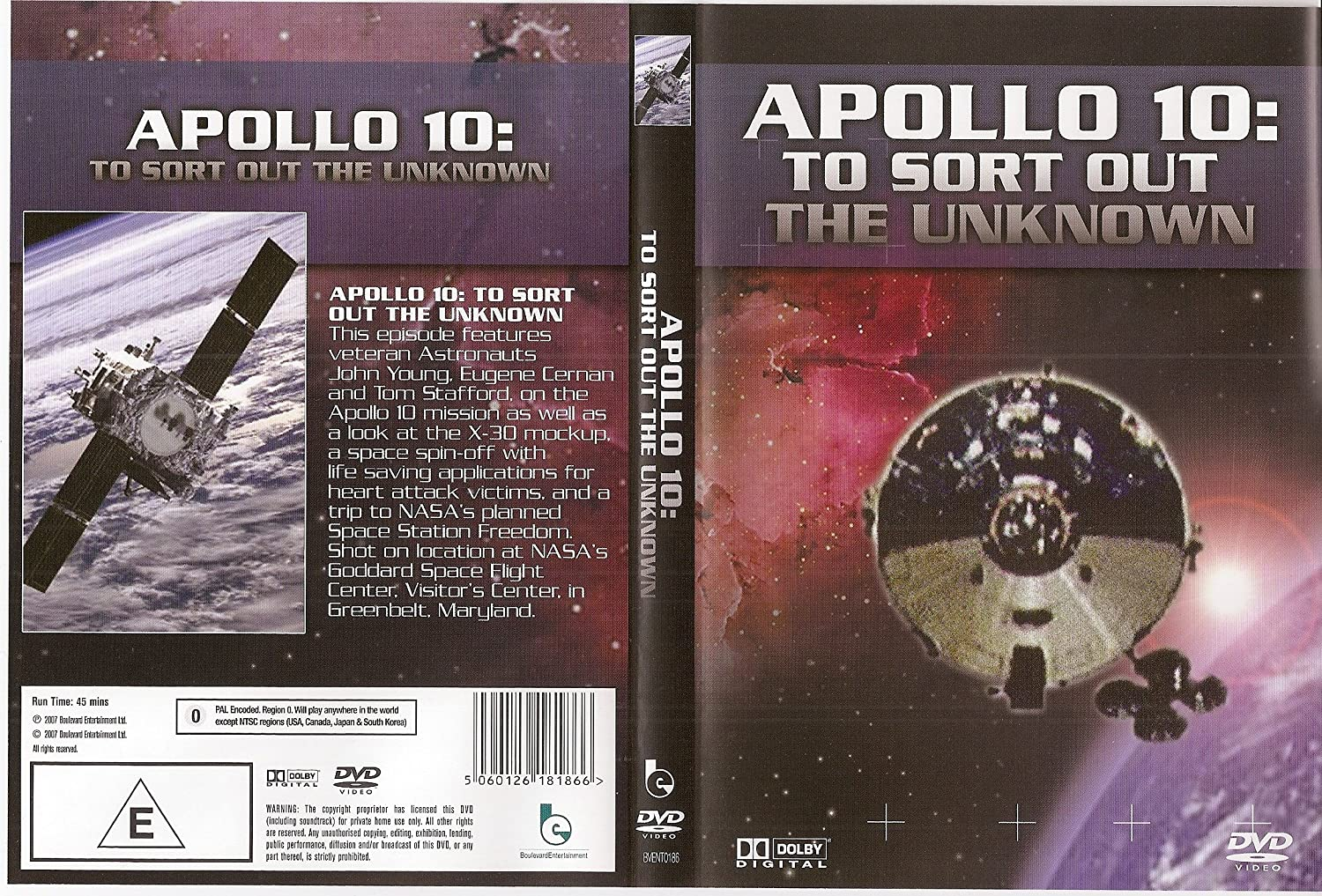 Apollo 10: To Sort Out The Unknown [DVD] [2007]: Amazon co