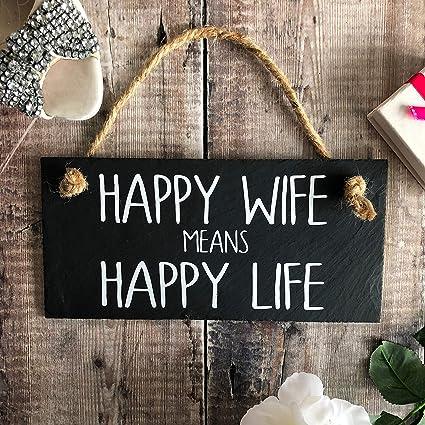 Amazon.com: Dozili Happy Wife Means Happy Life Happy Wife ...