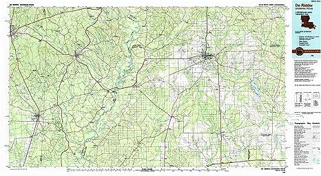 Amazon.com : YellowMaps Deridder LA topo map, 1:100000 Scale, 30 X on