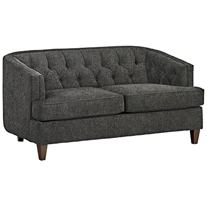 amazon com stone beam leila tufted sofa 69 w charcoal kitchen rh amazon com