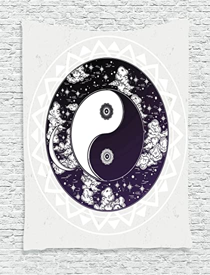 Amazon Ambesonne Mystic House Decor Tapestry Yin Yang Symbol