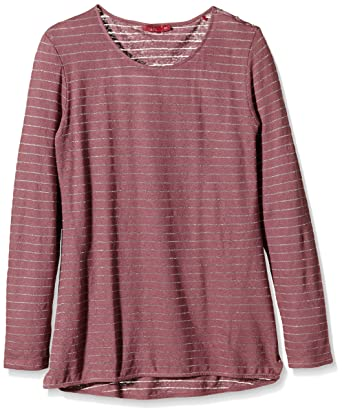 dd5466be484e9f edc by Esprit Women's Long Sleeve Long-Sleeved Top Pink Rosa (Dark Old Pink  675) 18: Amazon.co.uk: Clothing