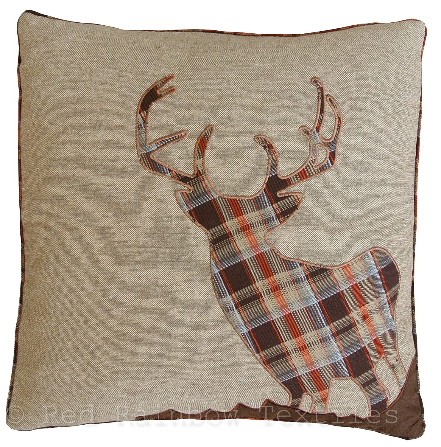 covers deer geometric pillows with cover cushion origami gallery gold pillow throw blanket