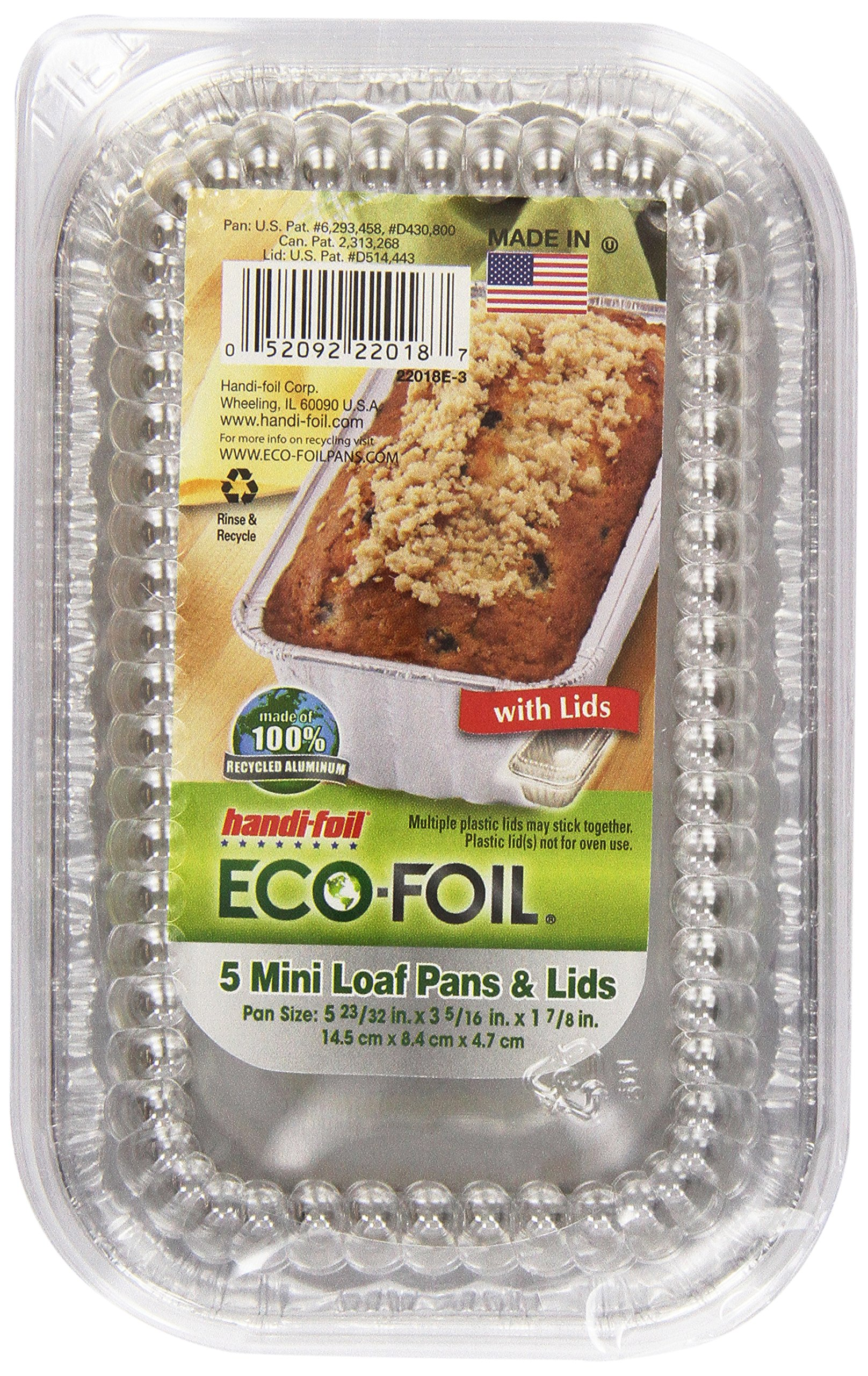 Cook-N-Carry Loaf Pan 1 lb, w/Lids, 5 ct