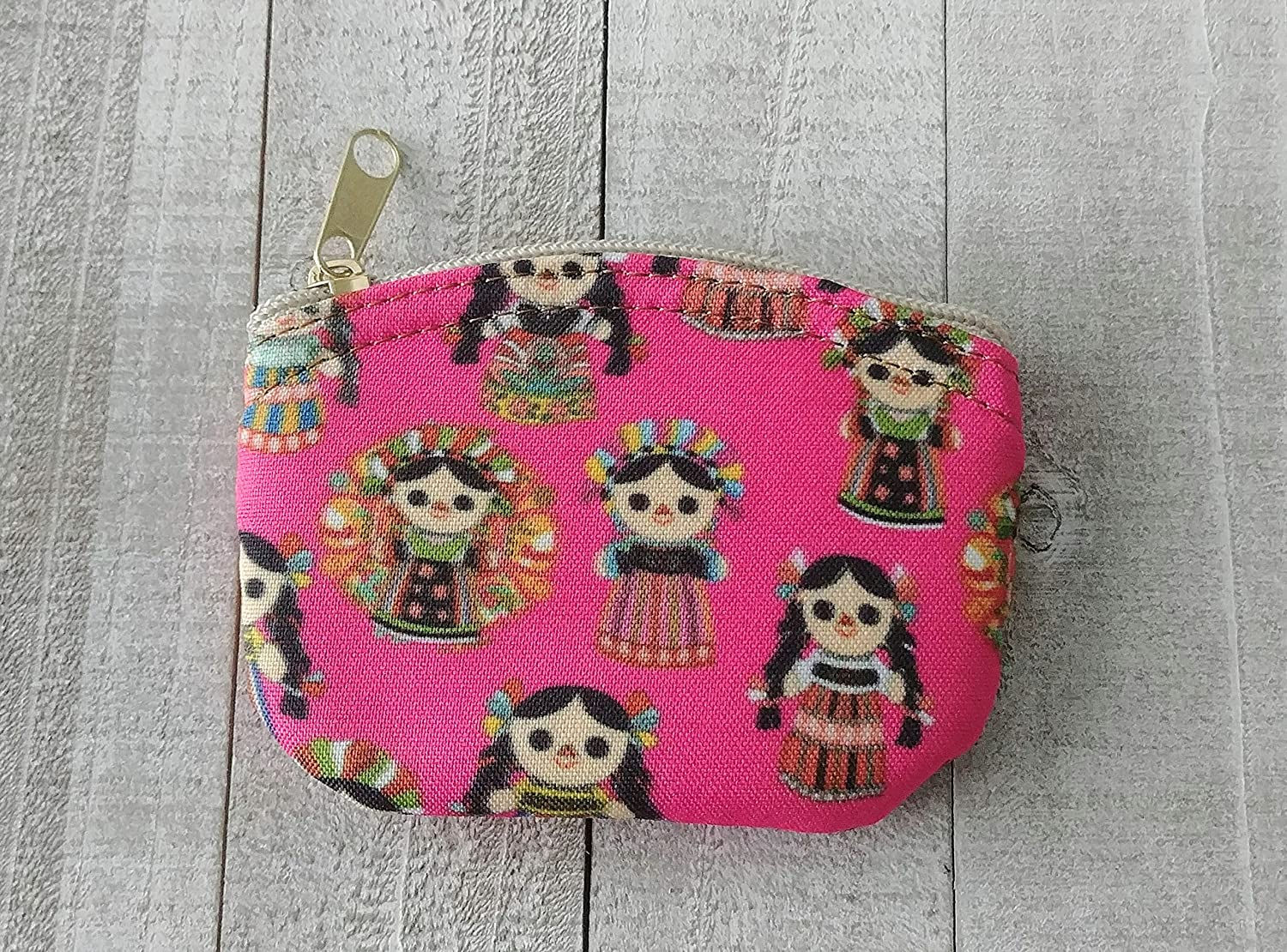 Amazon.com: Mexican Rag Doll Coin Pouch - Hot Pink: Handmade