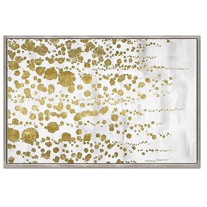 Wynwood Studio Gradual oro Foil lienzo enmarcado arte pared, 36 x 24 ...