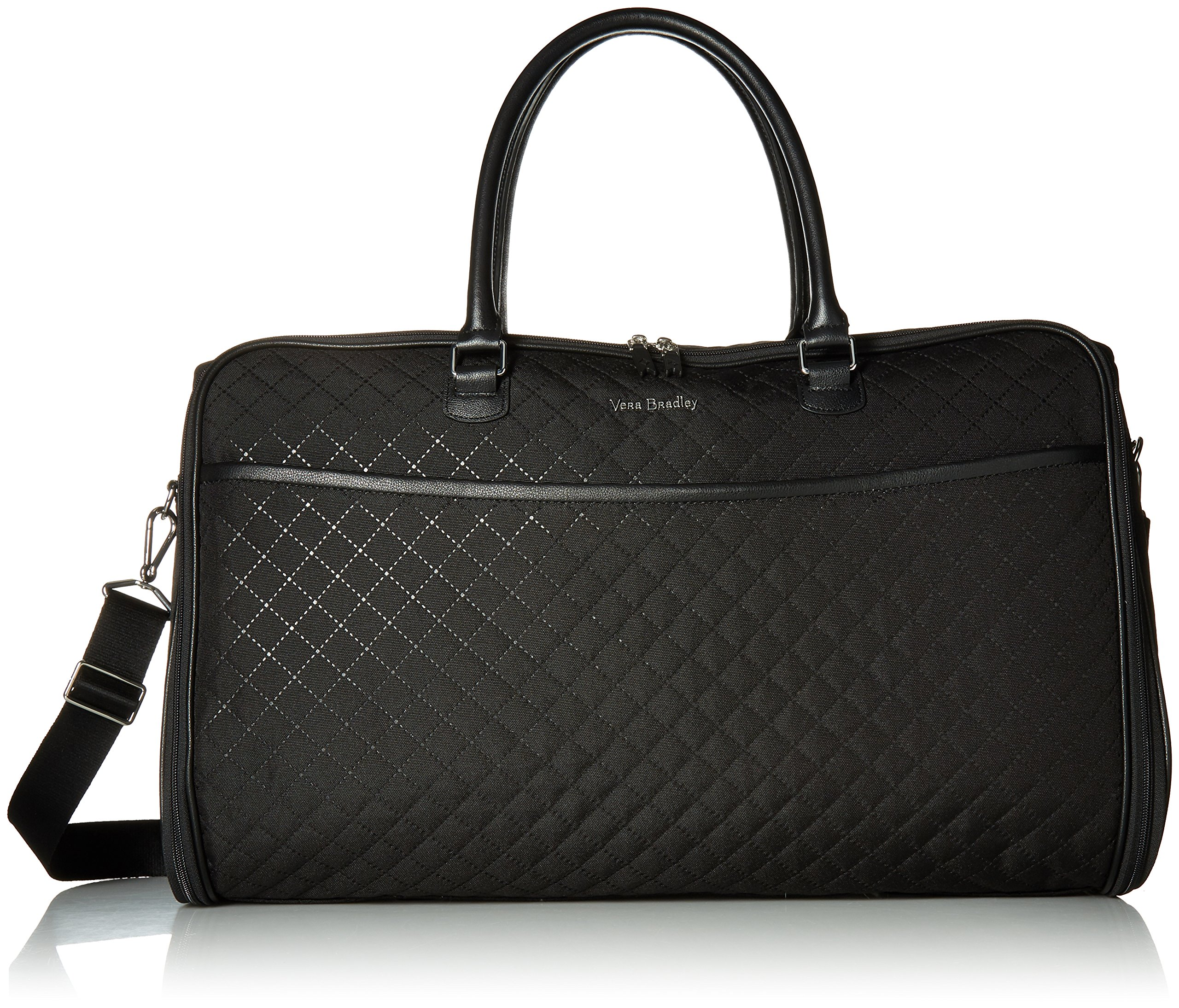 Vera Bradley Iconic Convertible Garment Bag, Classic Black Black