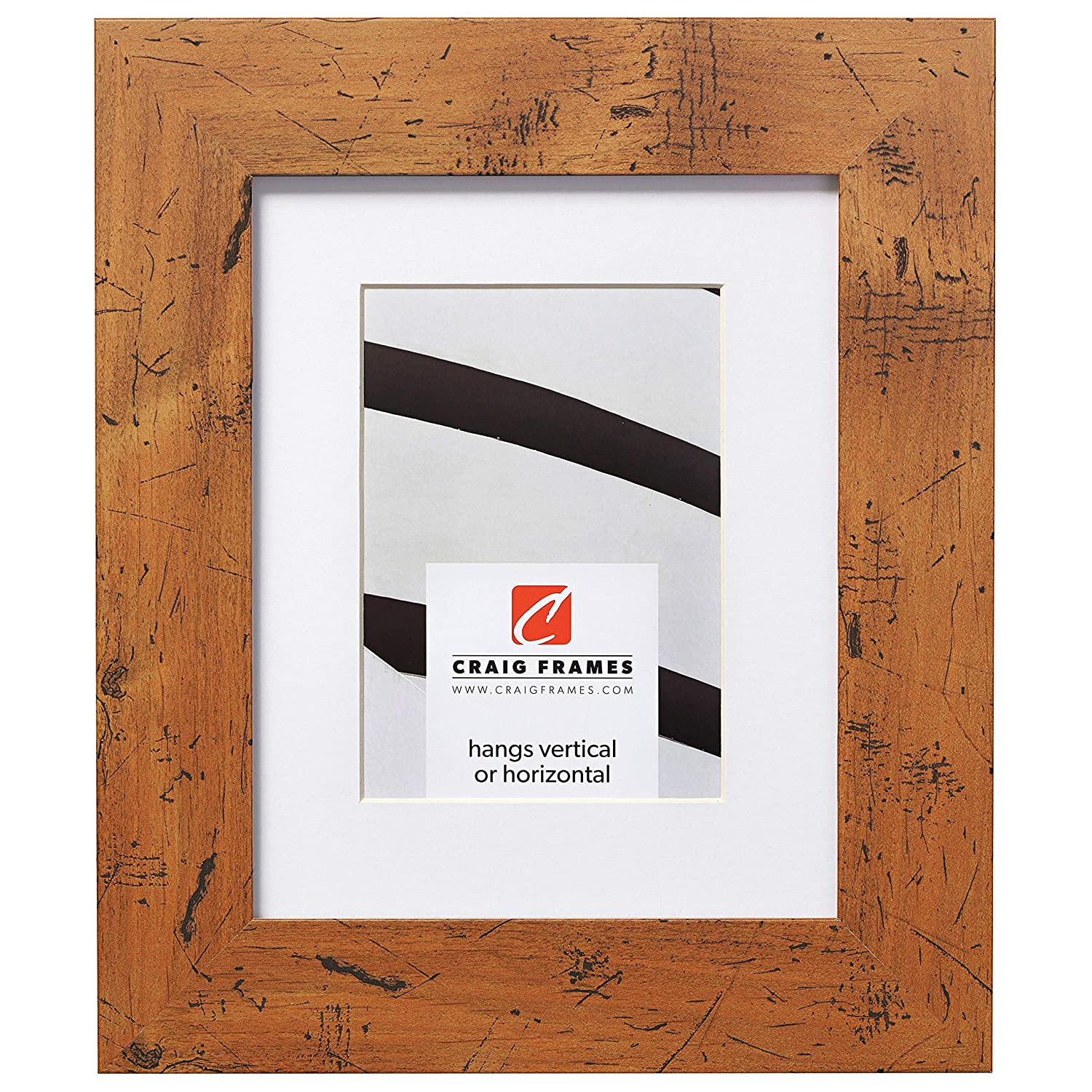 Craig Frames Bauhaus 200, 20 x 24 Inch Light Walnut Brown Picture Frame Matted to Display a 16 x 20 Inch Photo