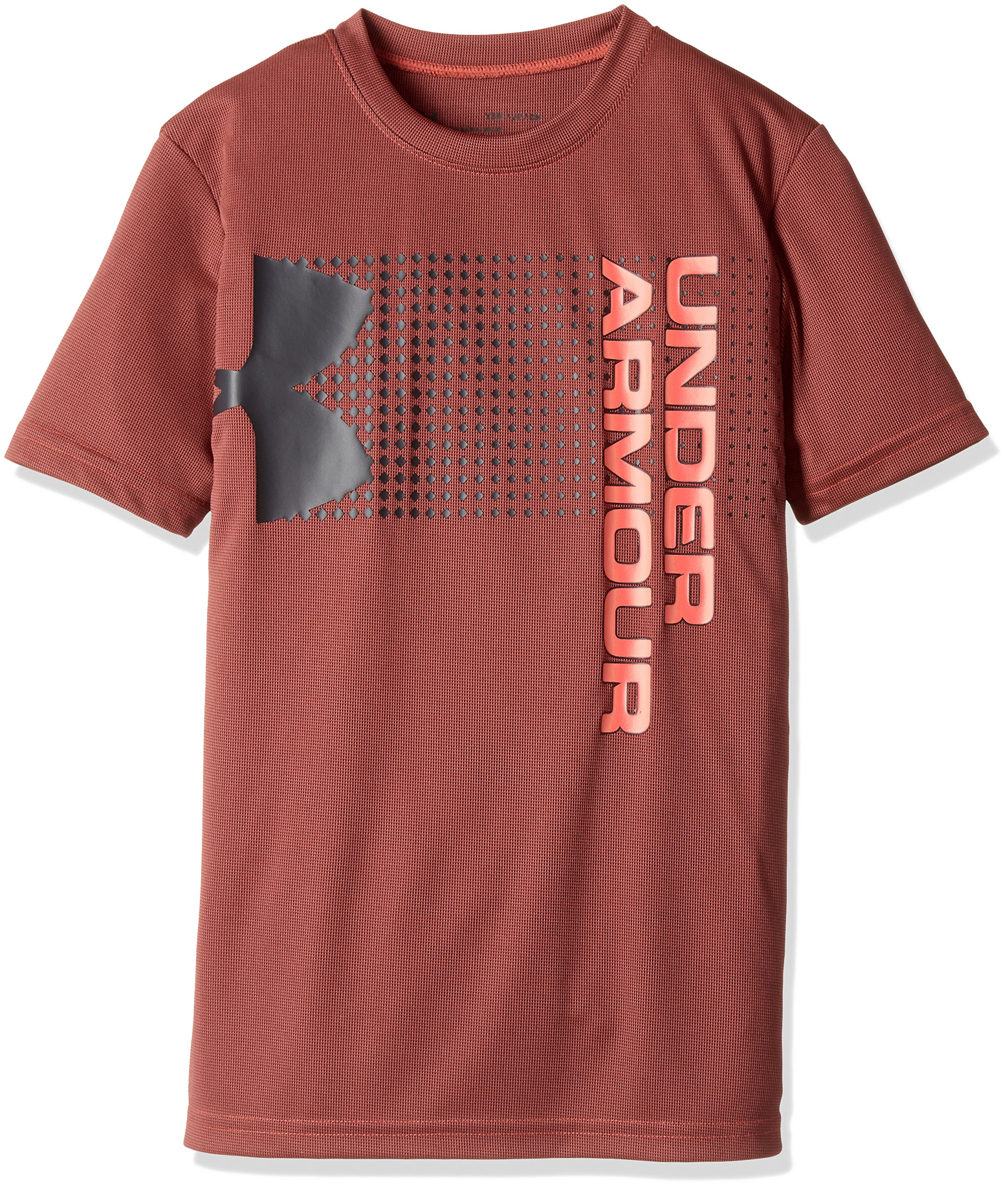 Under Armour Kids Boy's Crossfade Tee (Big Kids) Neon Coral/Stealth Gray/Neon Coral Small by Under Armour (Image #1)