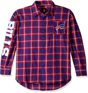 ae921460c Amazon.com   Forever Collectibles NFL Mens Large Check Long Sleeve ...
