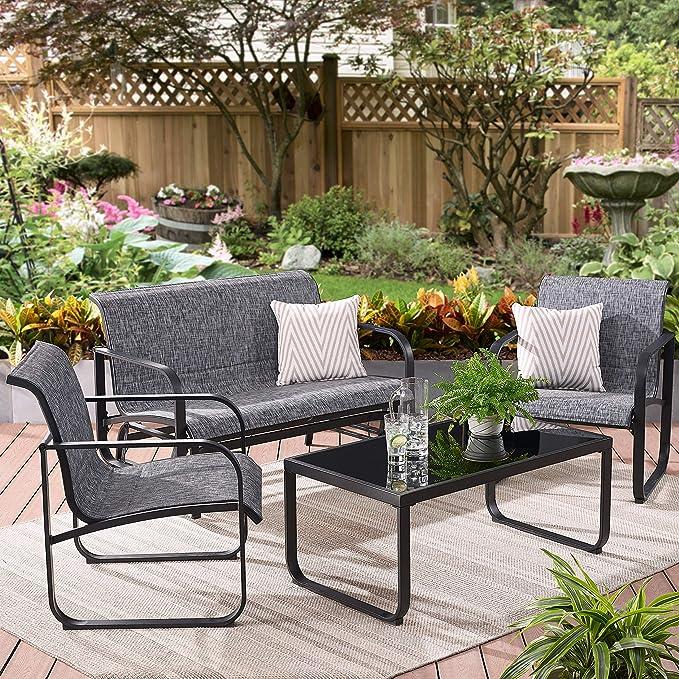 Amazon.com: Añade versátil asiento a tu porche o patio con ...
