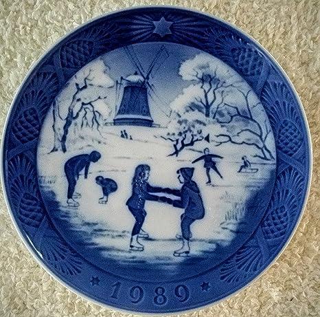 1989 royal copenhagen christmas plate - Royal Copenhagen Christmas Plates