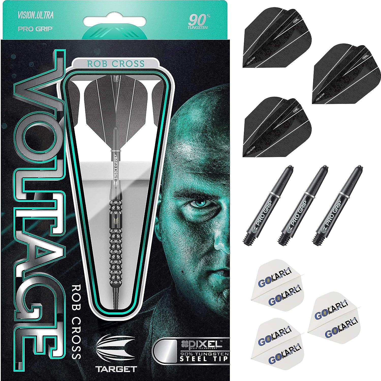 Gratis Flights und 1 Set Target Pro Grip Shaft Target Steel Darts Rob Cross Pixel Black 90/% Tungsten 2019 Steeltip Darts Steeldart