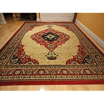 Amazon Com Luxury Traditional Red Persian Rug Red Small
