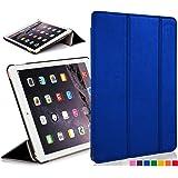 """Forefront Cases Étui en cuir à fermeture magnétique avec fonction de mise en veille/réveil automatique pour Apple iPad Mini 7,9 """"avec écran Retina black_p iPad Mini  Bleu - bleu"""
