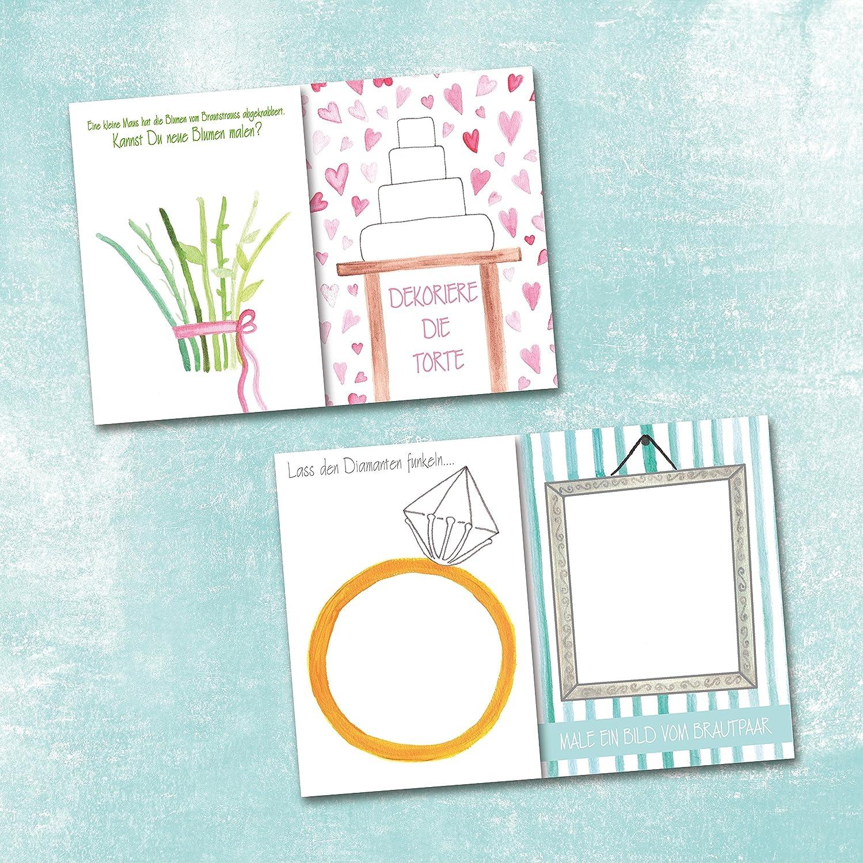 Livre de mariage pour enfants et adultes//lot de 10 souvenirs de mariage au lieu de cadeau ou de livre dor Format A6 Braun Vintage