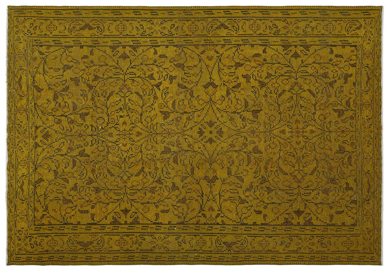 Bespoky ビンテージ 手織 ラグ 黄 大きいサイズ 184 X 265 Cm   B07HL3D5SX