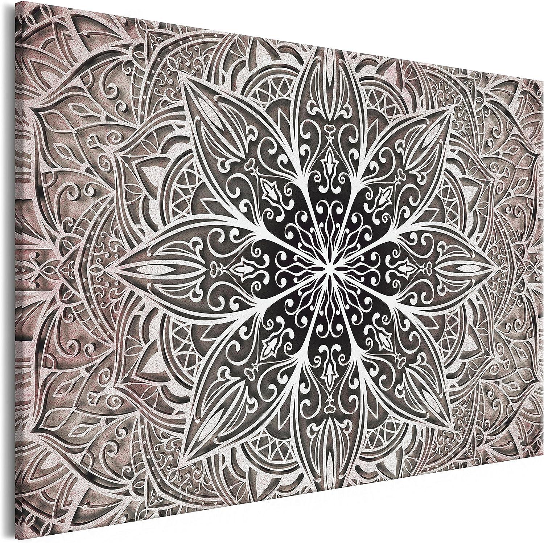 murando Cuadro en Lienzo Mandala 120x80 cm 1 Parte Impresión en Material Tejido no Tejido Impresión Artística Imagen Gráfica Decoracion de Pared Orient Zen SPA f-A-0637-b-c