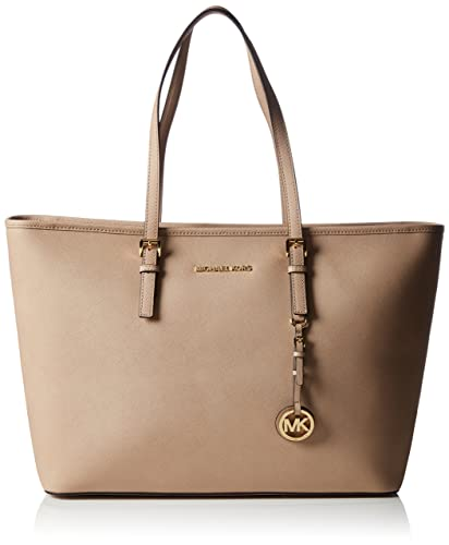 0731094b8392 Amazon.com  Michael Kors Jet Set Travel Medium Top Zip Multi Function Tote  BLUSH  Shoes