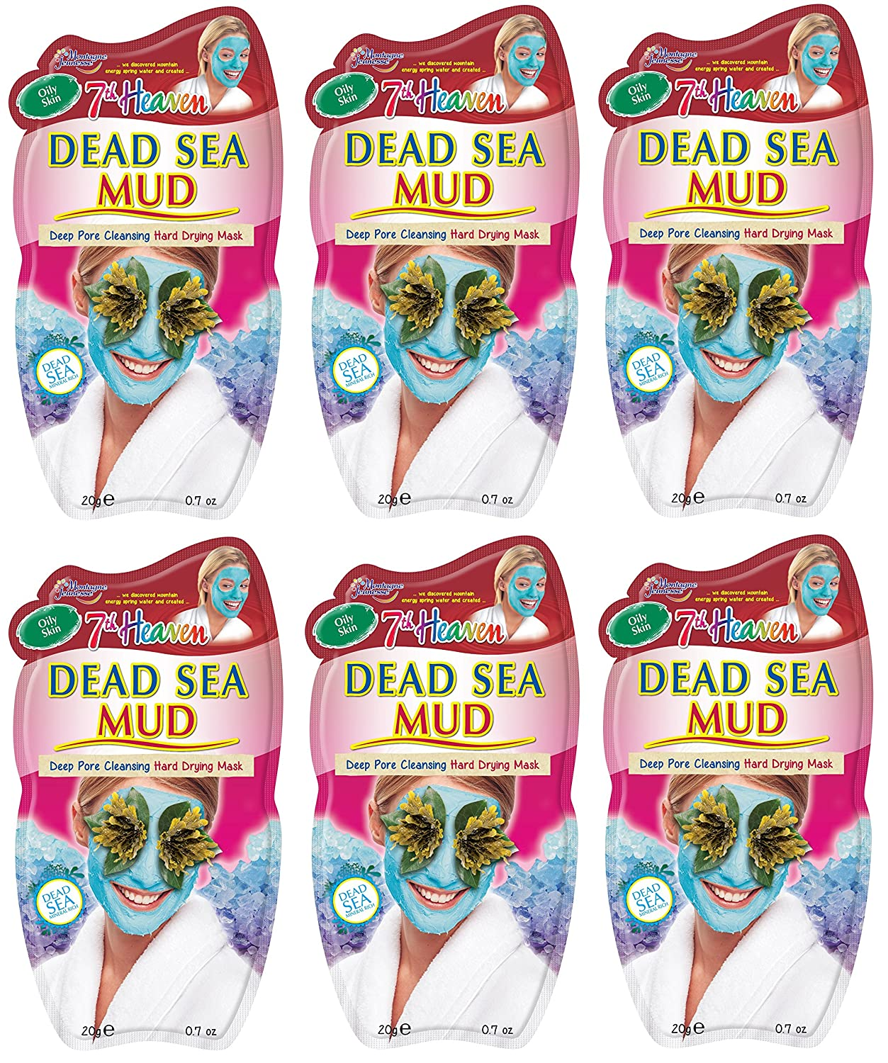 Montagne Jeunesse Dead Sea Mud 20 g Face Masque Sachets - Pack of 6 GroceryCentre GS-B029-A1