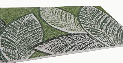 Verde Salvia, Parure 3 Pezzi Modello Elba Spugna di Cotone Pregiato Tappeto da Bagno Antiscivolo