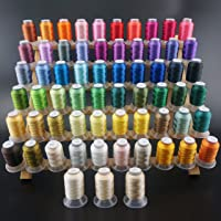 New brothread 63 Brother Couleurs Polyester Fil machine à broder pour Brother / Babylock / Janome / Singer / Kenmore Machine 500M (550Y) / bobine