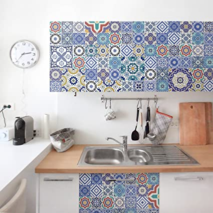 Carta Adesiva per Mobili - Tiling pattern - Ornate Portuguese tiles,  pellicola adesiva, pellicola plotter, pellicola arredi, pellicola vetro, ...