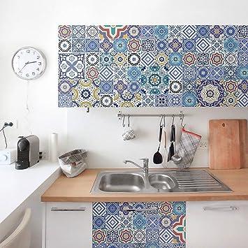 Amazonde Möbelfolie Fliesenspiegel Aufwändige Portugiesische - Fliesen folie meterware