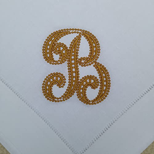 18 hemstitched monogrammed cloth napkin monogrammed linen napkin personalized cloth napkins - Linen Monogrammed Napkins