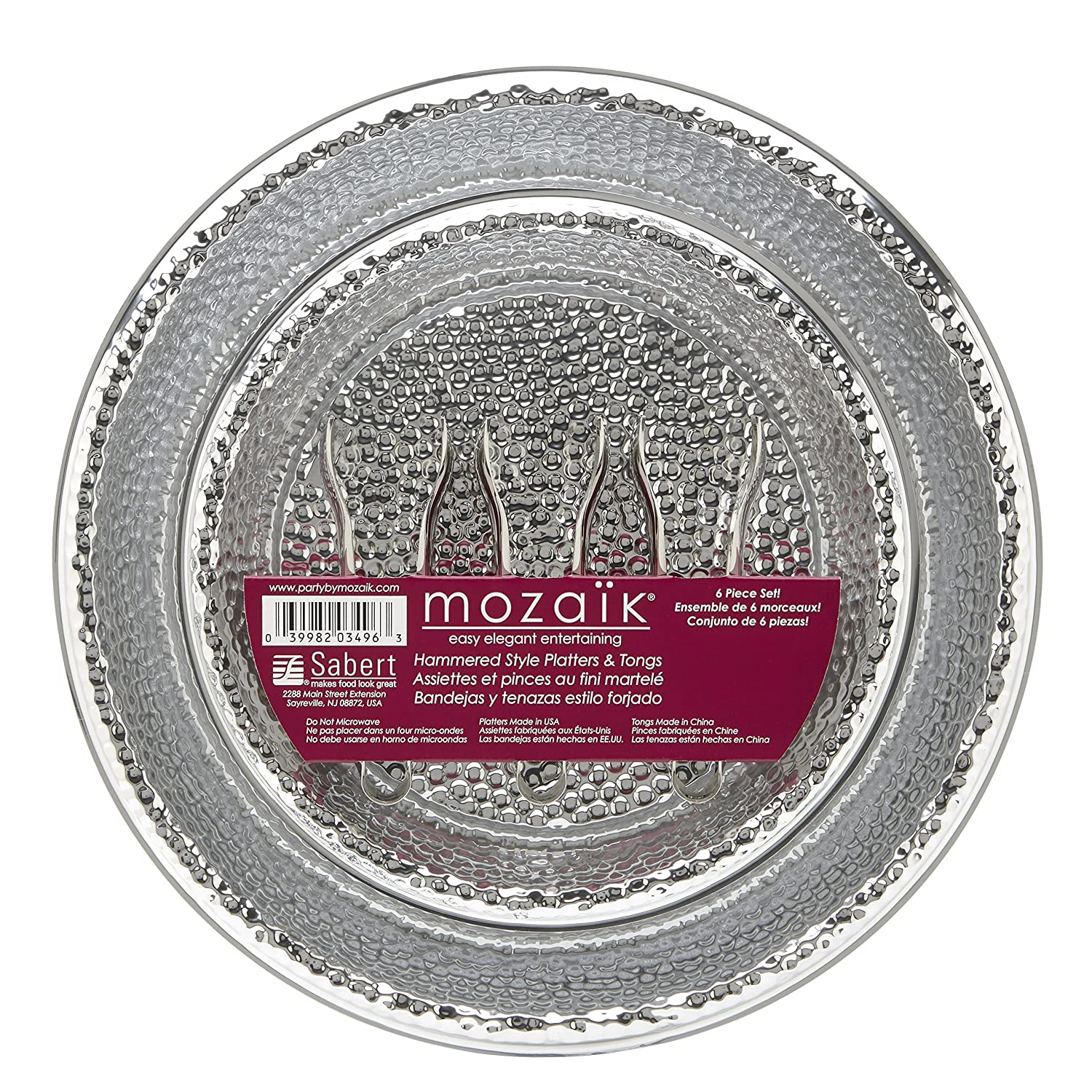 Amazon.com | Mozaik HPS1216PDQ-O Disposable Platter, Silver ...