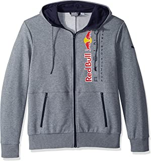 PUMA Mens Red Bull Racing Logo Hooded Sweat Jacket