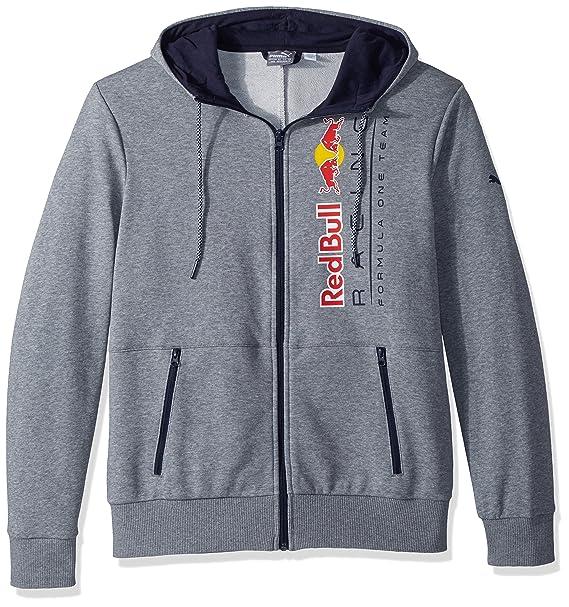 PUMA Hombres Red Bull Racing Logo Hooded Sweat Jacket Camisa