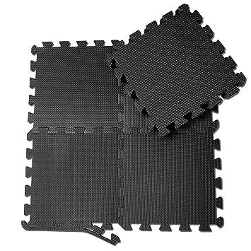 Schutzmatten Set Von BeMaxx Fitness U2013 18 Puzzlematten | Bodenschutzmatten |  Unterlegmatten | Fitnessmatten Für Bodenschutz