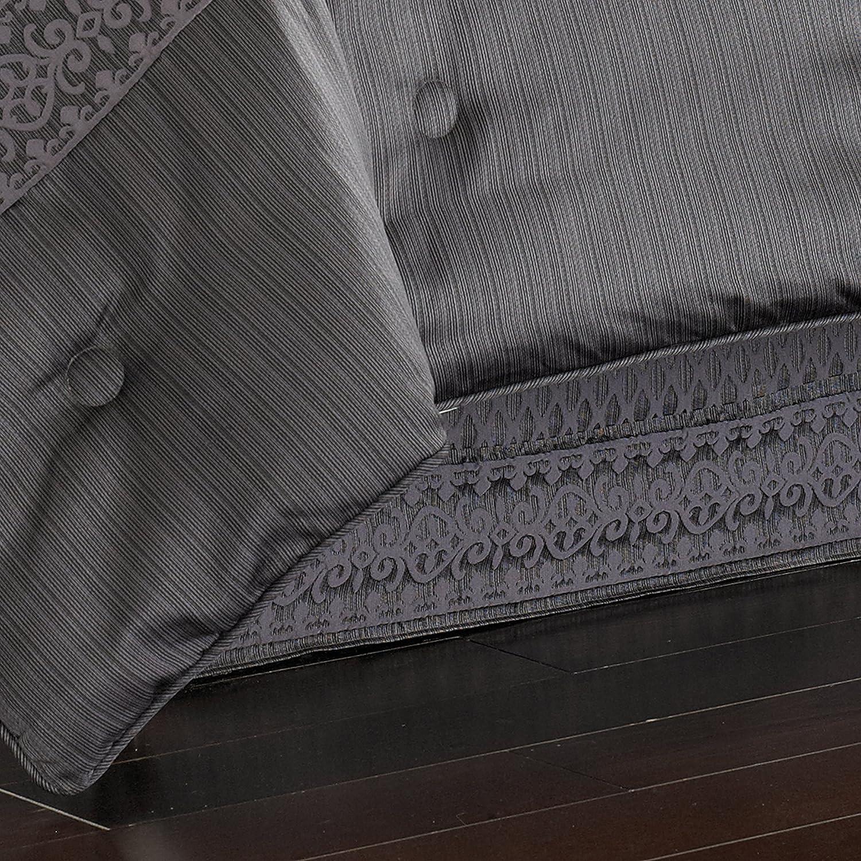 Five Queens Court Beaumont 4 Piece Comforter Set Queen Graphite 846339025310