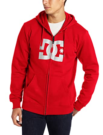 5b601cb8b696 Amazon.com  DC Men s Star Zip-Up Sweatshirt Hoodie  Clothing
