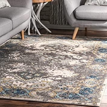 Admirable Amazon Com Nuloom Delena Distressed Medallion Area Rug 8 Dailytribune Chair Design For Home Dailytribuneorg