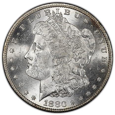 1880-S US Morgan Silver Dollar $1 PCGS MS63