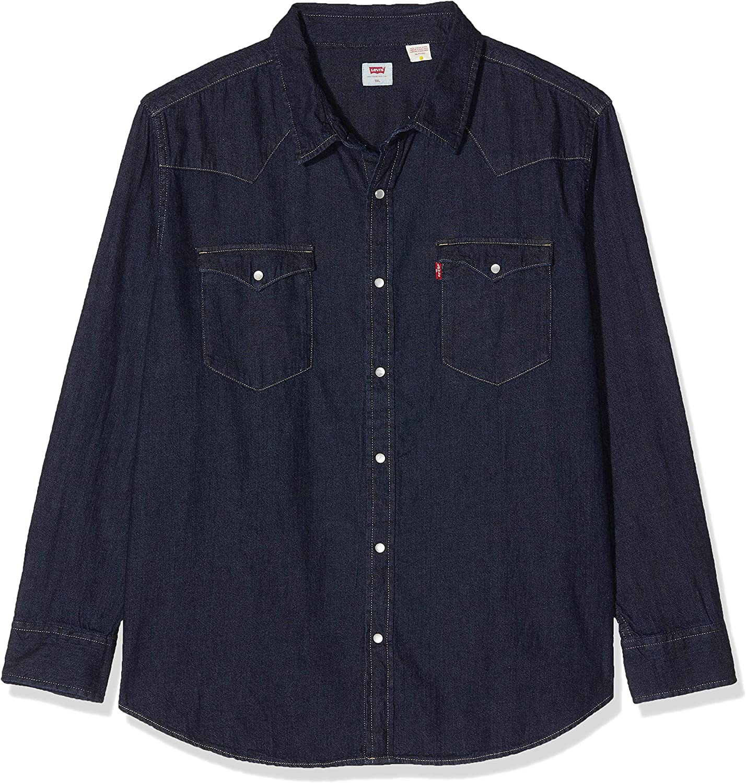 Levis Big Classic Western Camisa Abotonada, Red Cast Rinse Takedown H2 19 0004, 1XL para Hombre: Amazon.es: Ropa y accesorios