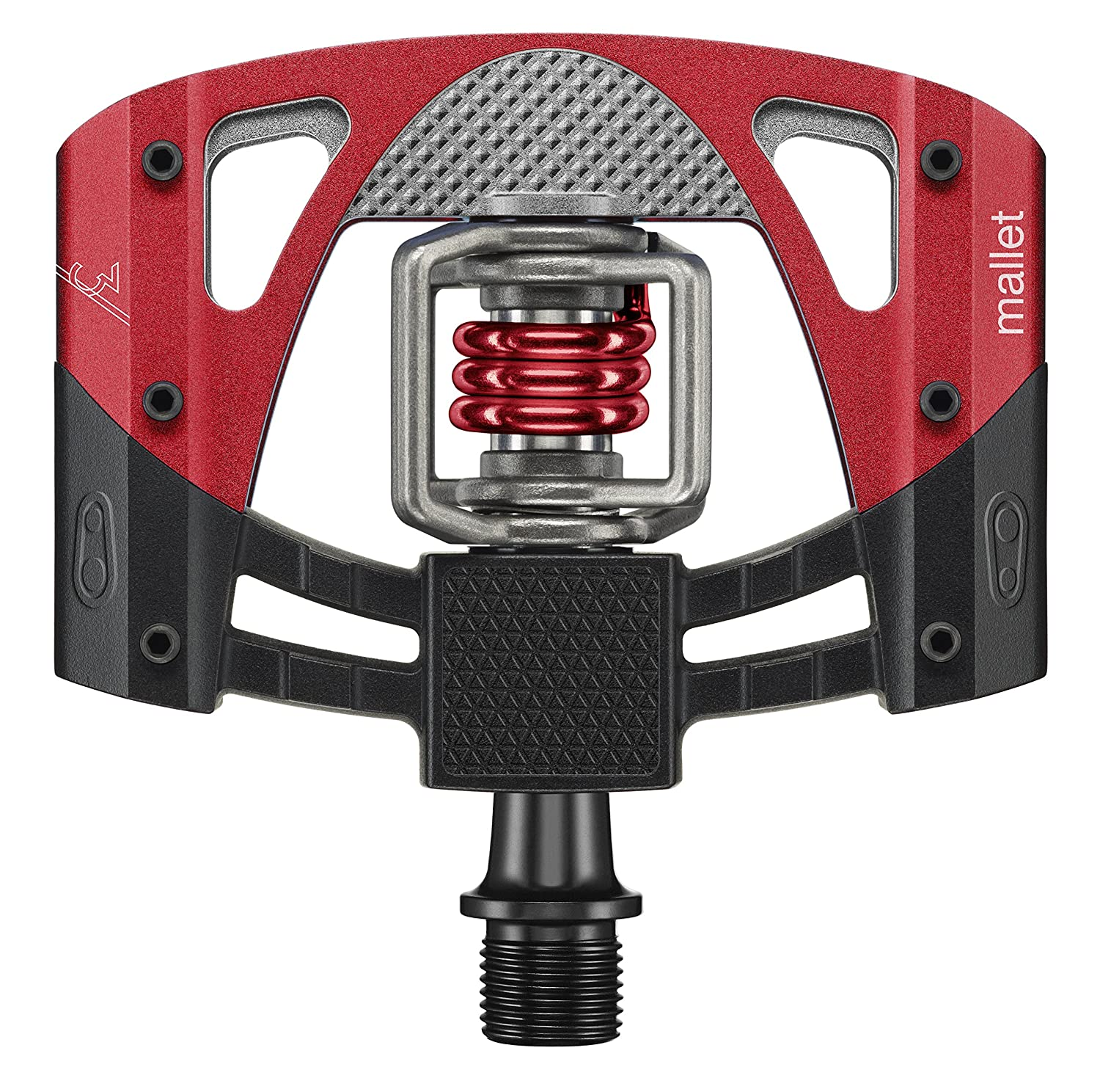 Crank Brothers Mallet 3 Bike Pedal Black Red Dh