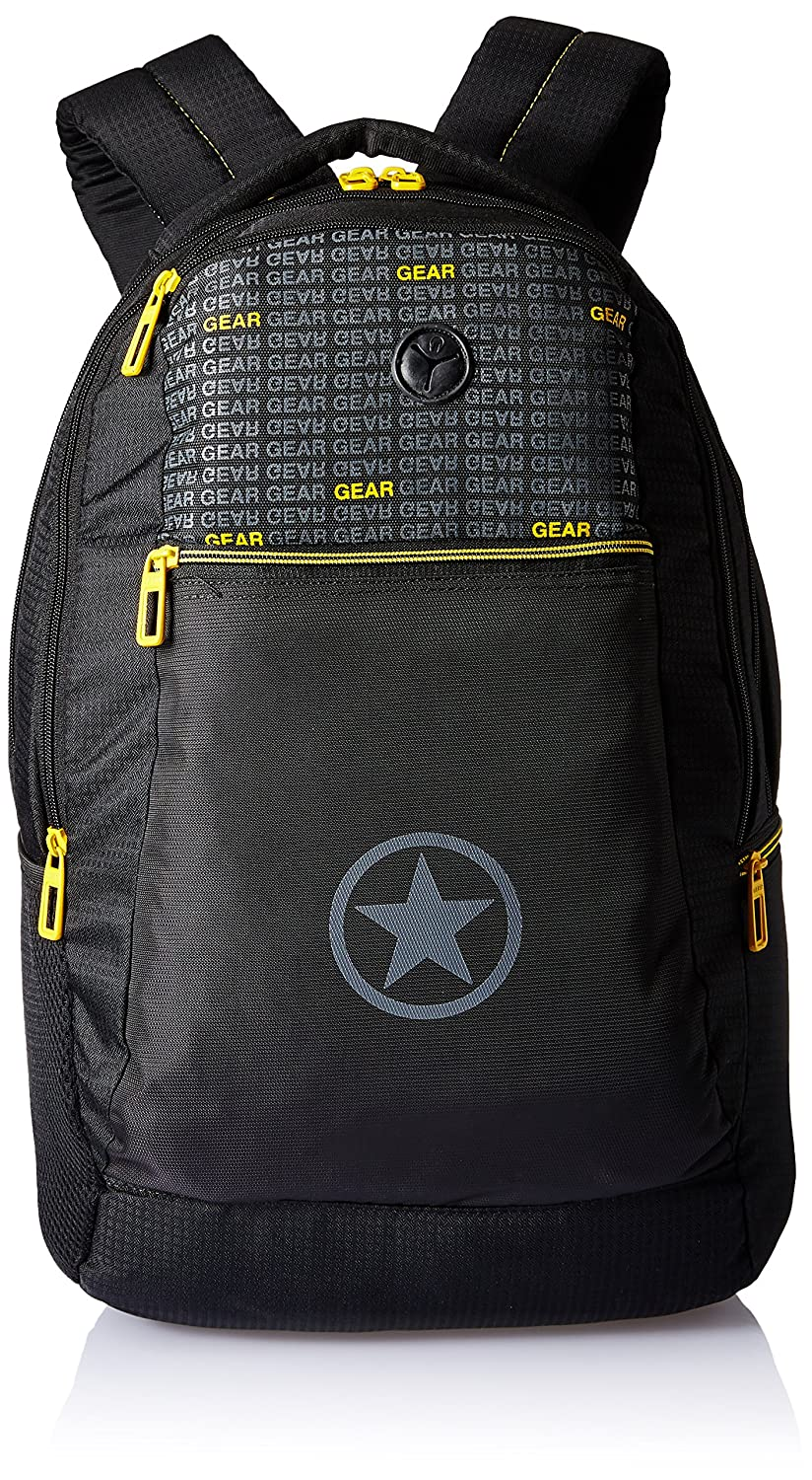 Gear 26 Ltrs Black and YellowLaptop Bag (METRO ECO LBP 2)