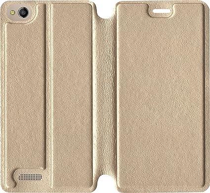 sale retailer 6802c 5c602 SBMS Flip Cover for Mobiistar CQ (Gold)