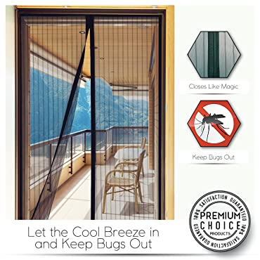 Premium Choice Magnetic Screen Door - KEEP BUGS OUT Lets Fresh Air In