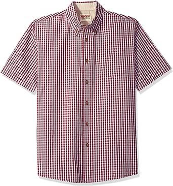 Wrangler Authentics Men's Big-Tall Short Sleeve Classic Plaid Shirt