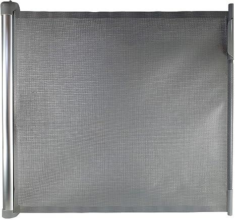 Callowesse® DELUXE Barrera de Seguridad Extensible 0-110 cm con Carcasa de Aluminio - Puerta de Escalera, Puertas, Pasillos - Mecanismo de Apertura con una Mano (Color: Gris): Amazon.es: Bebé