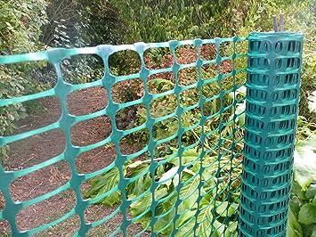 Superb Green Plastic Fencing Mesh 1mx25m. 3.5kg/roll (140g/m2).