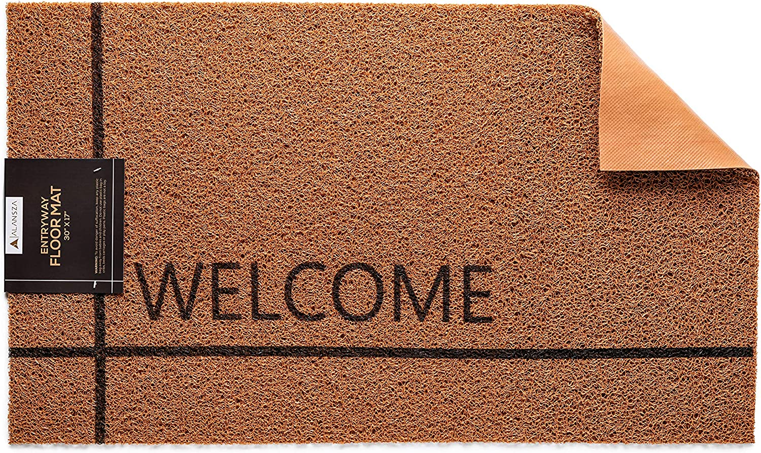 17Wx30L Inches Front Door Mat | Welcome Rug for Indoor or Outdoor | Porch or Entryway Sign Floor Mats | Washable Water Absorbent Rugs