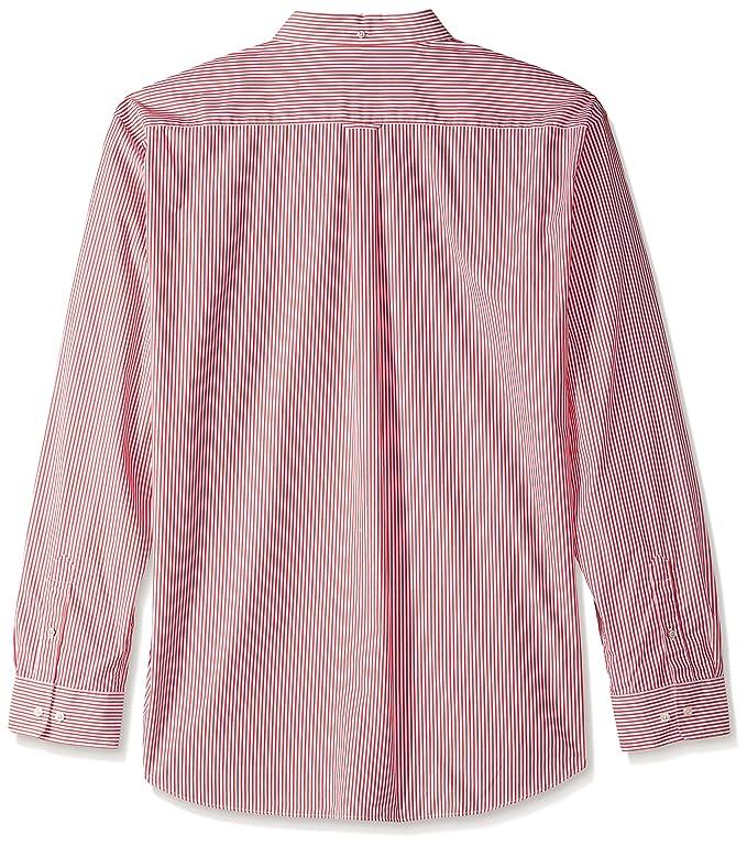60520878b4 GANT Men's Classic Broadcloth Banker Stripe Shirt at Amazon Men's Clothing  store: