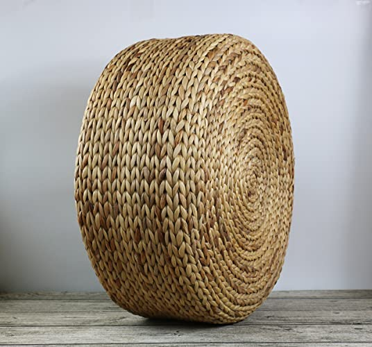 GRAS Rustic Khaki Floor Cushions With Sponge Fillingstraw Floor Awesome Pouf Filling